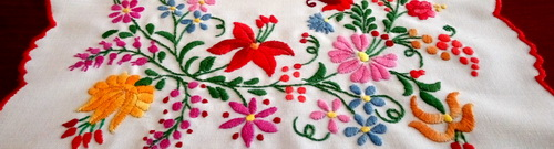 flowers colors in embroidery