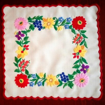 square embroidered doily