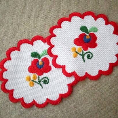 Hungarian embroidered coaster