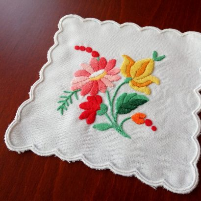 embroidered hungarian table centerpiece