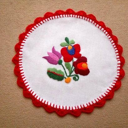 colorful hungarian embroidery