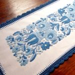 hungarian embroideries in blue