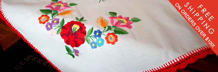 Embroidered tablecloths from Kalocsa