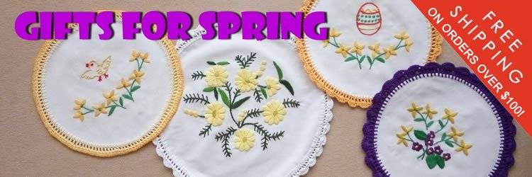 Doilies for spring, Easter, Christmas
