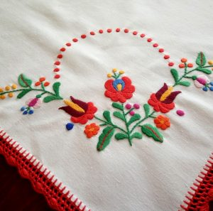 Hungarian embroidered tablecloths