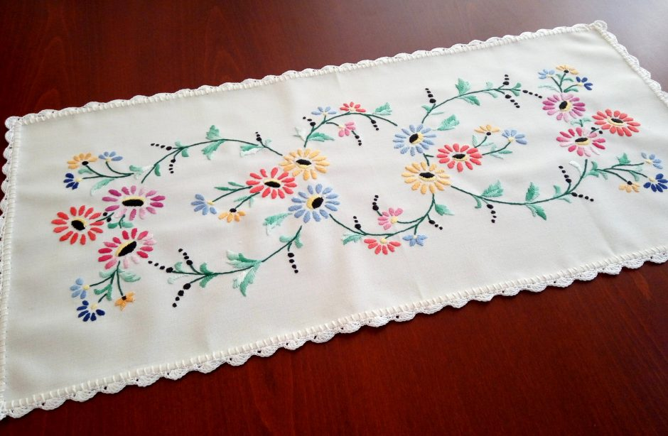embroidered tablecloth hungarian